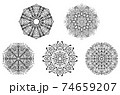 Abstract mandala design 74659207