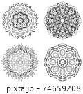 Abstract mandala design 74659208