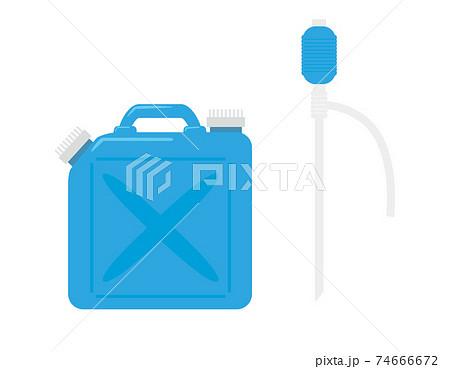 ポリタンクと灯油ポンプのベクターイラスト 灯油タンク 74666672