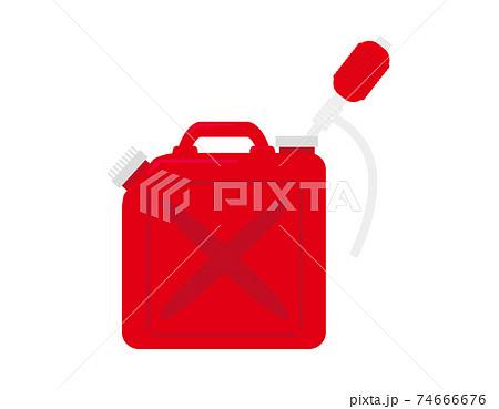 ポリタンクと灯油ポンプのベクターイラスト 灯油タンク 74666676