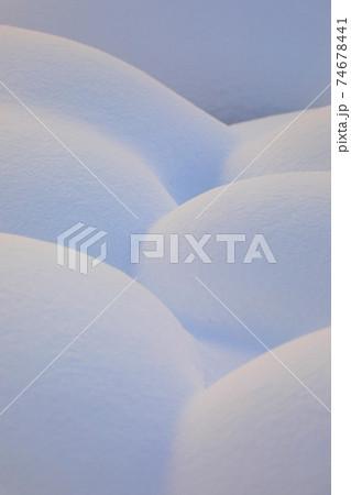 【北海道美瑛町の冬】雪の造形美 1月 74678441