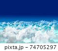 まるで空撮の雲イラスト 74705297