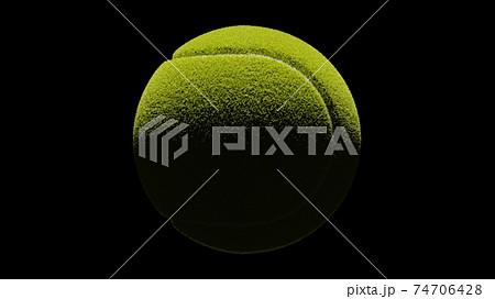 Tennis ball on black background. 74706428