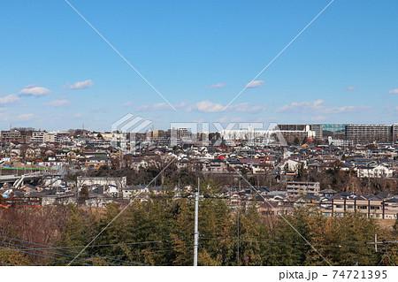 あきる野市側から見た羽村市の街並み(東京都) 74721395