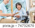 介護イメージ シニア デイケア 介護福祉士 老人ホーム 74732670