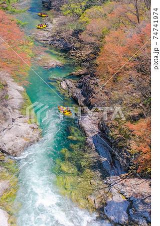 諏訪峡のラフティング(縦) 74741974
