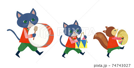猫とリスの楽隊 74743027