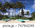 ハワイラニカイビーチの休日のビーチ 74764299