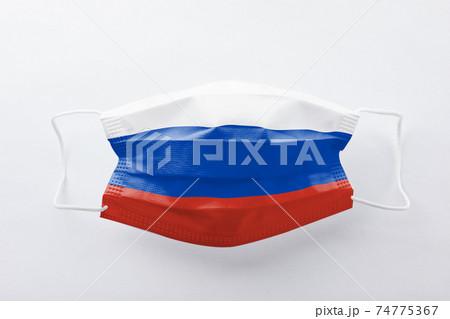 ロシア国旗のマスク 74775367