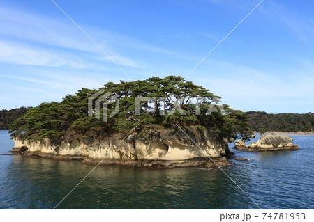 在城島・化粧島、松島の風景 (宮城県松島町) 74781953