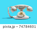 Retro telephone with golden ornaments 74784601