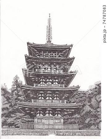 醍醐寺五重塔 74787083