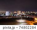 都市の夜景 岐阜県大垣市中心部 74802284
