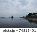 曇りの日の海 74815401