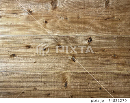 ざらついた木目のある褐色の板が横に並ぶ背景画像 74821279