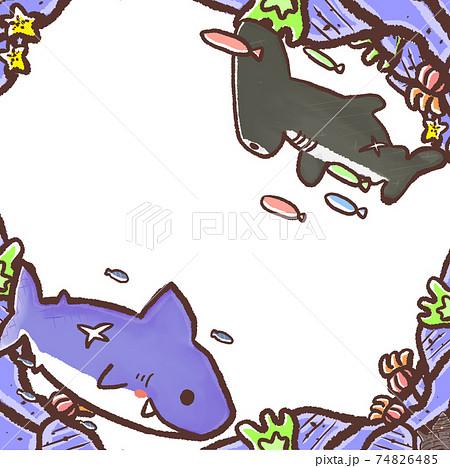 R:もっとメルヘンな水族館☆壁紙 フレーム サメとの迎合 74826485