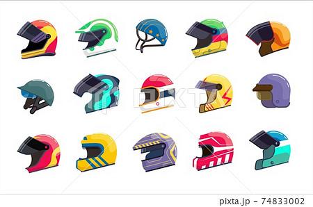 Motor helmet racing uniform with visor for head protect set 74833002