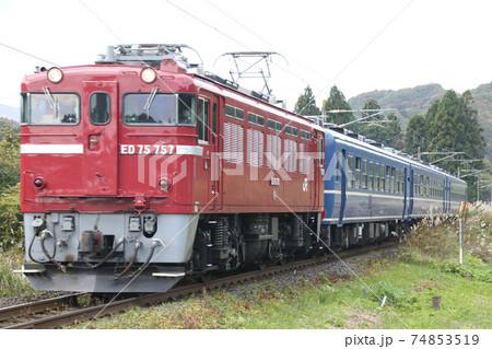 ED75形電気機関車+12系客車 74853519
