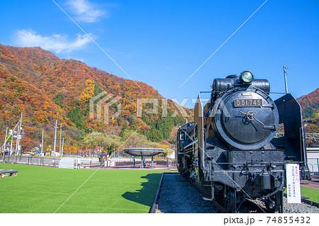 水上駅SL転車台広場 蒸気機関車    74855432