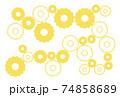 シンプルな歯車の背景 黄色 74858689