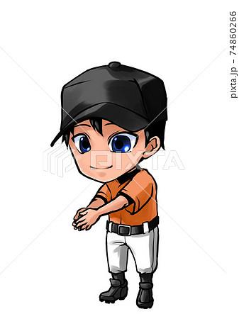 手洗いする野球選手 74860266
