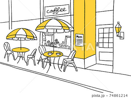 カフェの背景_カラー 74861214
