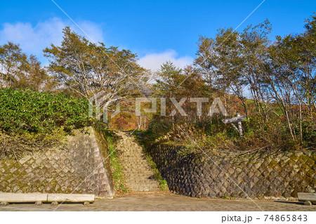 栃木県那須町の峠の茶屋駐車場の登山口 74865843
