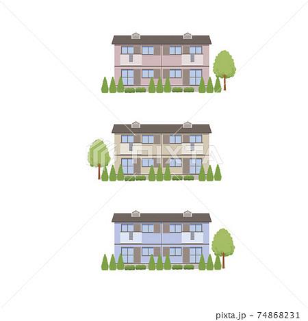 植栽のあるアパート 74868231