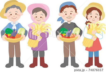 農家の家族 74876037