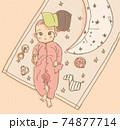 おもちゃに囲まれている赤ちゃん 74877714