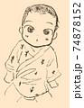 見つめてくる赤ちゃん 74878152