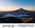 新道峠の景色 富士山 雲海 朝焼け 74887059