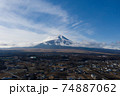 富士山 忍野村上空 空撮 冠雪 74887062