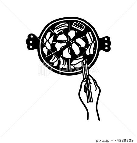 ジンギスカンの手描き風イラスト 74889208