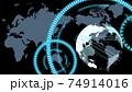 青いデジタルネットワークイメージ背景 74914016
