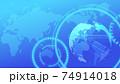 青いデジタルネットワークイメージ背景 74914018