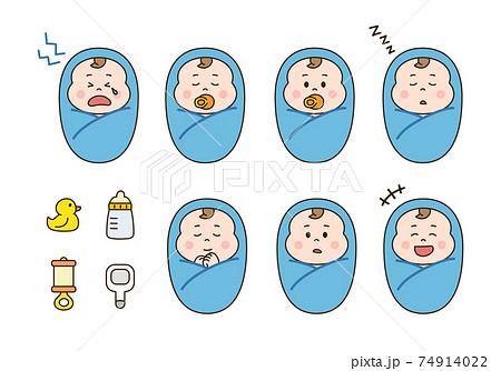 赤ちゃん・おくるみセット 74914022