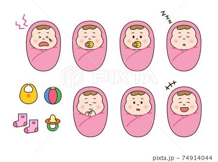 赤ちゃん・おくるみセット 74914044
