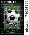 Soccer Football Poster Vestor Illustration 74936340