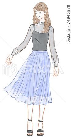 チュールスカートを履いた女性 74945879
