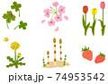春の風物詩 イラスト セット 74953542