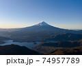 富士山 新道峠 空撮 朝焼け 風景 景色 74957789