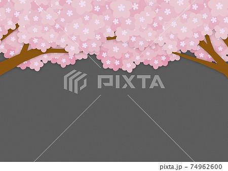 紙工作風な夜桜の背景 no.01 74962600