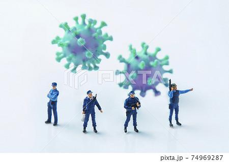 コロナウイルス との戦い 74969287