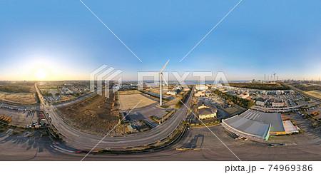風力発電空撮 超広角パノラマ撮影 74969386