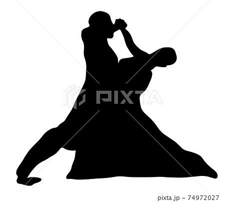 美しい社交ダンスのシルエット 74972027