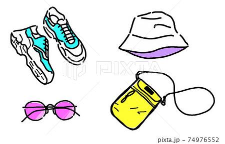 Men's fashion accessory illustration set 74976552