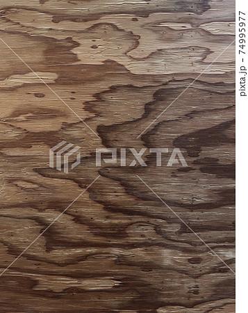 波紋のような木目が浮き出た焦茶色の背景画像 74995977
