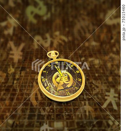 為替の時間と時計 75015460