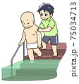 入浴介助をする介護士のイラスト 75034713